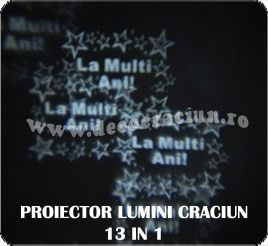 Proiector lumini decorative exterior Craciun LED