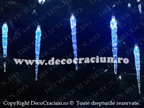 instalatie turturi luminosi led exterior Craciun